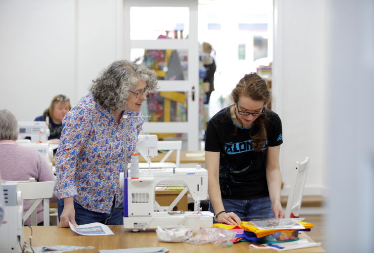 A view of teaching at High Street Quilting
