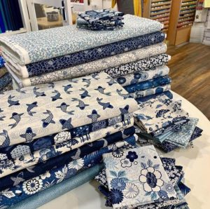 Indigo fabric on sale at high street quilting