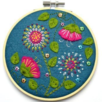 Corinne Lapierre applique hoop felt craft kit