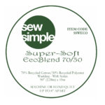 A picture of a Sew Simple label