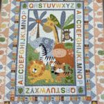 A picture of Jungle Friends Quilt panel