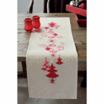 Red Christmas Decorations Table Runner Kit £39.95